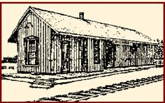 OTTERVILLE, Ontario - built 1875  Port Dover and Lake Huron Railway Station.