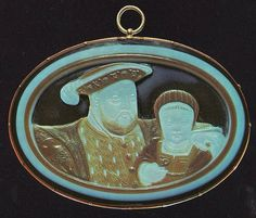 A sixteenth century cameo of Henry VIII and his son Edward VI part of the Royal Collection, Windsor Castle.