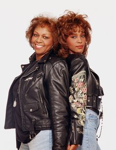 Cissy Houston with her daughter Whitney Houston