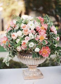 Wedding Decor, Flowers by: White Lilac Inc., Photo: Bryce Covey Photography - California Wedding http://caratsandcake.com/nouranandadam