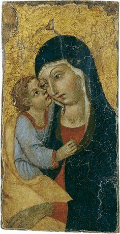 Toskanischer Meister, MADONNA MIT KIND VOR GOLDGRUND., 1450, Auktion 864 Alte Kunst, Lot 1195