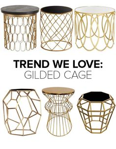 gold side tablesㅣArteriors Lulu & Georgia Worlds Away Lisa Jarvis Target Emporium Home Decoration Inspiration, Room Inspiration, Round Nightstand, Deco Design, Home Furniture, Furniture Stores, Painted Furniture, Furniture Design, Moroccan Furniture