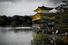 https://flic.kr/p/ttqA4s | A Cloudy Day At Kyoto,Japan | Temple of the Golden Pavilion,officially named Kinkaku-ji (金閣寺)Deer Garden Temple,is a Zen Buddhist temple in Kyoto, Japan.That day was a cloudy day and rained.The worst is that I used the wrong ISO setting,but the outcome is just OK!