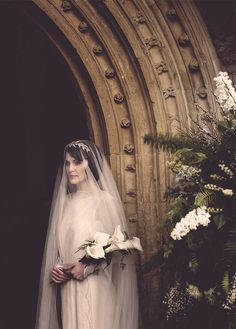 downton abbey mary the bride | More Downton Abbey photos here:  http://mylusciouslife.com/historical-style-downton-abbey-photos/