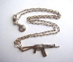 AK47 Rifle Necklace Uncovet