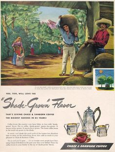 1946 Chase & Sanborn Coffee ad from #RetroReveries