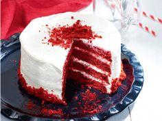 Így készül a vörös bársony torta (Red Velvet cake).