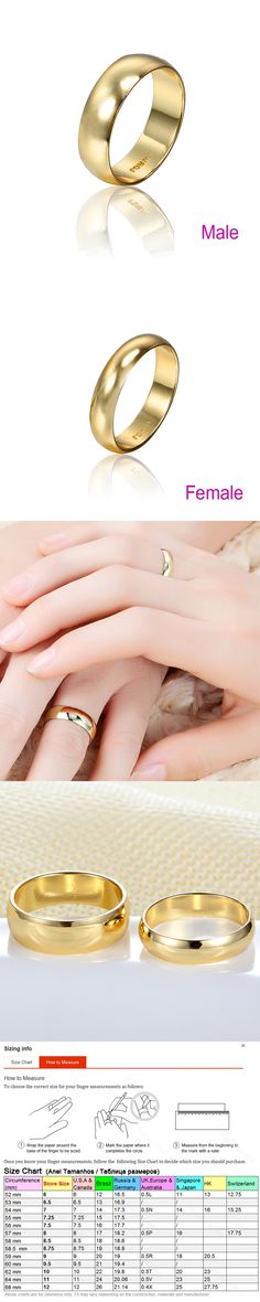 Couple Rings Gold Engagement Ring for Men Women Alliance Casamento Bague Mariage Hommes Alianca Anillo Alien Wedding Jewelry
