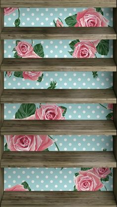 iPhone 5 floral shelf wallpaper