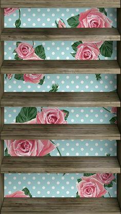iPhone 5 floral shelf wallpaper