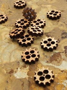 Laser Cut Mini Wooden Steampunk Gears - Free Shipping - Itsies - Charms By…
