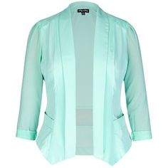 City Chic Colored Drapey Blazer Jacket