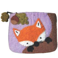 Felt Coin Purse - Baby Fox - Wild Woolies (P)