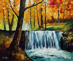 WATERFALL - Oil Painting | Hand Painted