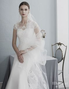 MYWEDDING 로즈로사 웨딩드레스 Pure White