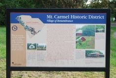 Mt. Carmel Historical District Marker Photo, Click for full size