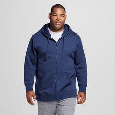 Men's Big & Tall Sizes Fleece Full Zip Hoodies Dark Blue Xlt - C9 Champion, Size: XL Tall, Dark Night Blue