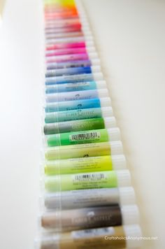 Gelatos® creamy pigment sticks that can be blended with or without water || they're so cute! They look like lipstick.