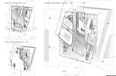 Zaha Hadid Architects have won a competition to design a library and learning centre for the University of Economics & Business in Vienna, Austria. The 28,000 square metre building forms the central part of a new campus for the university. The learning centre will include a library, tutorial rooms, administration offices, student centre, book