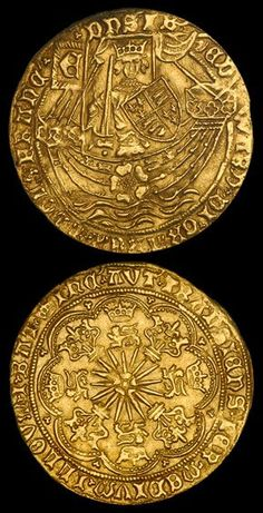 """The Gold Ryal, also known as the Rose Noble, was an English gold coin first issued in 1464, during the """"first reign"""" of Edward IV (1461-1470). From the 1430s onwards, the price of gold had been rising, with the result that the gold noble, which had been in use since 1344, was worth more on the continent than in England. The nobles were exported en masse to the continent for profit, resulting in a shortage of the coins. #GoldCoins"""