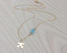 Puzzle morceau collier collier puzzle collier par OlizzJewelry