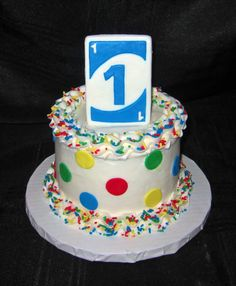 Uno themed smash cake for 1st birthday  www.cuteologyshop.com