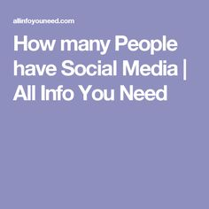 How many People have Social Media | All Info You Need