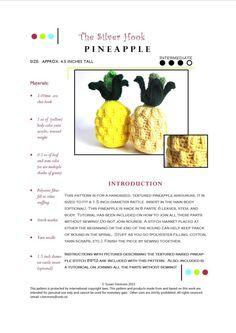 Play Food Intermediate Crochet Pattern by TheSilverHook on Etsy