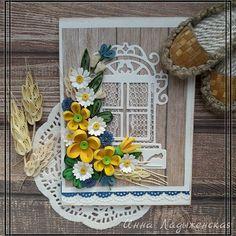 #квиллинг #открытки #цветы #бумага #ручная работа #праздник #юбилей #деньрождения #подарок #витебск #ручнаяработа #праздник #quilling #handmade #papercraft #postcards