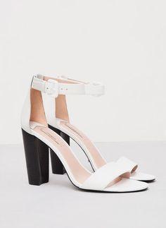 Uterque white sandals