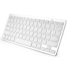 Anker® Bluetooth Ultra-Slim Keyboard for iPad Air 2 / Air, iPad mini 3 / mini 2 / mini, iPad 4 / 3 / 2, Galaxy Tabs and Other Mobile Devices (White) T300