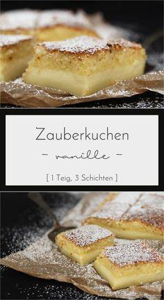 Vanille-Zauberkuchen: DER Kuchentrend aus dem letzten Sommer im klassischen Gewand. Er ist im Handumdrehen zubereitet und sorgt sofort für einen Wow-Effekt. #kuchen #rezept #zauberkuchen