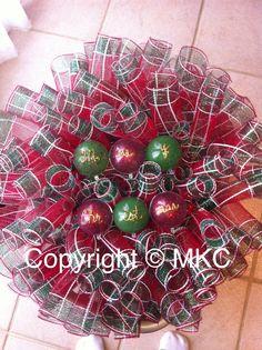 Merry Christmas spiral wreath I made