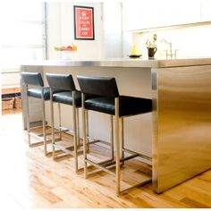 "Found it at AllModern - Graph 24"" Bar Stool with Cushion"