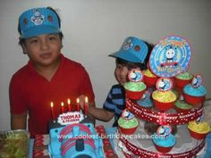 My son Carl Thomas just turned 5! (August 9, 2010). Actually, last year his theme on his 4th birthday was also Thomas. Well, obviously he's a certified