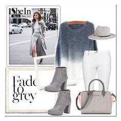 """Grey Shein"" by marijaprusina ❤ liked on Polyvore featuring Steilmann, Prada, Eugenia Kim, women's clothing, women's fashion, women, female, woman, misses and juniors"