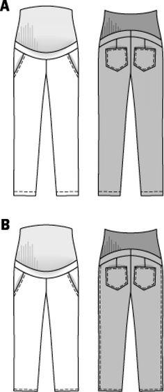 B7165 - Maternity Wear - Burda Patterns