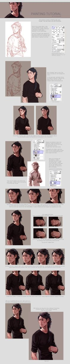 """painting tutorial by *littleulvar on deviantART   """"Also known as """"How to use SAI like a caveman."""" Welcome.  I did it because lots of you asked, I hope that somebody will find it useful. And I'm sorry for any typos."""""""