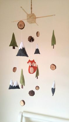 Fox Baby Mobile || Mountain Baby Mobile || Woodland Nursery || Baby Boy Mobile || Felt Mobile || Woodland Mobile | Outdoor Adventure Nursery by HappyBabyNursery on Etsy https://www.etsy.com/au/listing/561926655/fox-baby-mobile-mountain-baby-mobile