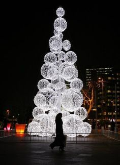 Christmas in Istanbul - tree of lighted balls