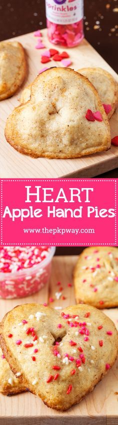 Sweet heart hand pies to celebrate Valentine's Day!