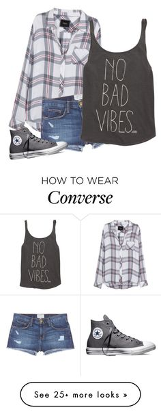 """Untitled #1009"" by desyrae-carstensen on Polyvore featuring Rails, Current/Elliott, Billabong and Converse"