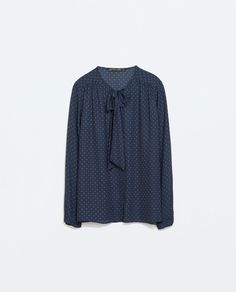 Image 7 of BLOUSE WITH POLKA DOT BOW from Zara