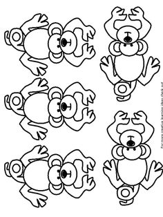 give each child a monkey to increase counting from 5
