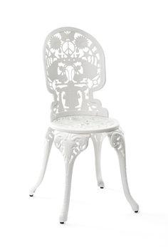 Aluminium garden chair INDUSTRY | Chair - Seletti  The White Elegance Collection  #white @elegance @whiteelegance @shabbychic #wedding