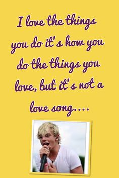 Not a Love Song... From Austin and ally... I know... dont judge me:)