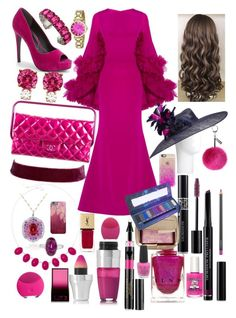 """Magenta Madness 💖"" by lilyalicewalker ❤ liked on Polyvore featuring Christian Siriano, Charles by Charles David, Chanel, Jemma Wynne, Vanessa Mooney, Liz Claiborne, Anne Klein, Janis Savitt, John Lewis and Helen Moore"