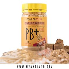 Ft. Macro Mike | SALTED CARAMEL PB+ POWDERED PEANUT BUTTER🥜  #macromike PB+ is a must have for all the #peanutbutter addicts out there. PB+ is high in protein & low in fat. Macro Mike's #saltedcaramel flavour combines the highest quality of plant powered protein with our signature roasted peanut flour. Macro Mike add a hint of natural caramel flavour with dairy free coconut milk powder, stevia and coconut blossom for sweetness and a pinch of Himalayan sea salt for the perfect balance of…
