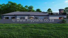 4 Bedroom House Plan - My Building Plans South Africa 4 Bedroom House Plans, My House Plans, Family House Plans, My Building, Building Plans, Open Plan, Master Bedroom, Shed, Lounge