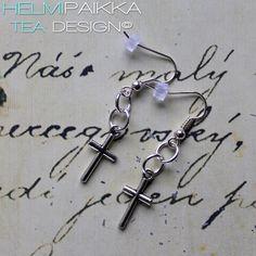 Helmipaikka Oy - Joka päivä on korupäivä - Helmipaikka. Crosses, Tea, Personalized Items, Teas